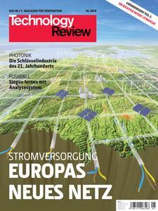 Das Titelbild der aktuellen Technology-Review-Ausgabe 06/2010