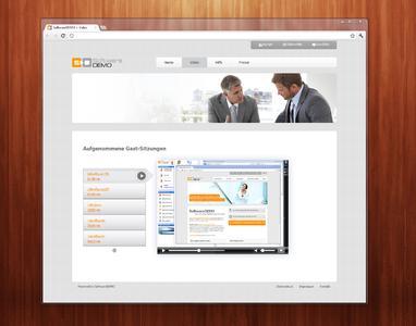 SoftwareDEMO mit Video-Feature im Web mit Browser und Player-Bar