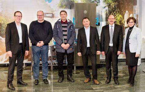 Dr.-Ing. Stefan Scheringer, Martin Hubert, Gerd Bayer, Gunter Fischer, Roland Stumm, Edith Schreiner (vl.)