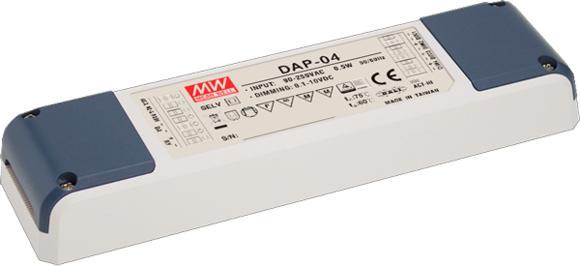 Signalwandler DAP-04 von Mean Well zur Umwandlung von DALI- in PWM-Signale