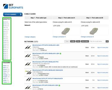 EET Europarts has developed an efficient, time and cost saving EET Europarts Cable Guide