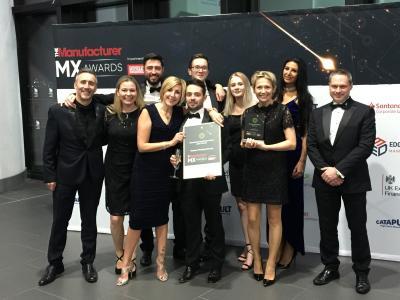 "Domino Printing Sciences gewinnt ""Operational Excellence"" bei den Manufacturer MX Awards 2018"
