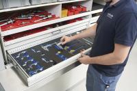 Empfindliche Messmittel werden in maßgeschneiderten Inlays sicher und griffbereit aufbewahrt.