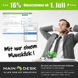 MainDesk-Kunden sind bereits für die Mehrwertsteuersenkungen gerüstet