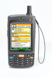 Die mobile Instandhaltungslösung 4mobile SERVICE von ICS, hier mit dem MC 75 von Motorola, überzeugt durch benutzerfreundliche grafische Oberfläche, logische Menüführung und einfache Handhabung