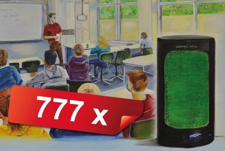 777 Stück CO2 Ampeln für Schulen