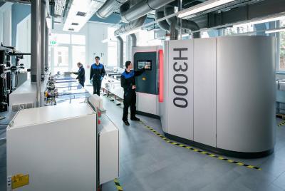Das H3000 Finishing-Modul ist der Einstieg in das voll-automatisierte Post-Processing Hirtisieren® nach dem 3D Druck