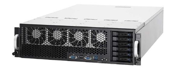 Der GPU Server von ASUS lässt sich mit bis zu acht Grafikkarten ausstatten.