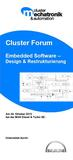 "Cluster-Forum 2012 in Augsburg - ""Embedded Software - Design & Restrukturierung"""