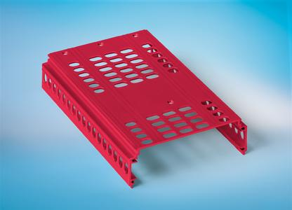 Die Gehäuse in Stanzbiegetechnik bietet CTX aus Stahlblech, verzinktem Stahlblech, Aluminium oder Edelstahl inkl. Einpressbolzen bzw. -buchsen