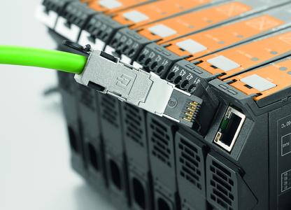Weidmüller ACT20C gateway: the status of devices, environmental conditions and functions are continuously monitored via Industrial Ethernet