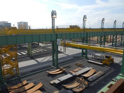 Das installierte Symeo-Messsystem LPR® im brasilianischen Stahlwerk von ThyssenKrupp sichert eine lückenlose Warenflusskontrolle von der Produktion bis zur Verschiffung, Bild: ThyssenKrupp Steel