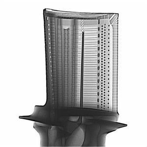 X-Ray image of a turbine blade
