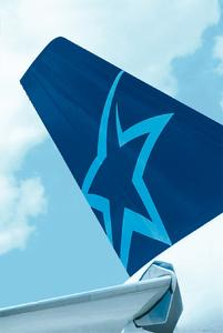 Tail of Airbus A310 with Air Transat logo