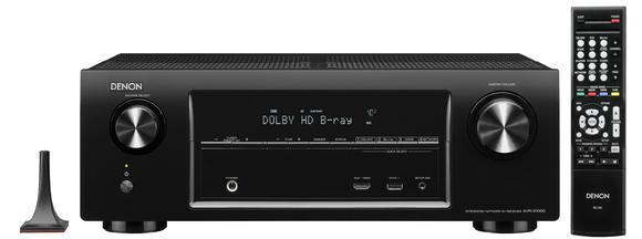 AVR-X1000 mit Mikrophon und Fernbedienung