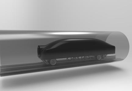 C 0: The Hyperloop – a high-speed transporter that travels inside a tube at low air pressure at virtually the speed of sound.