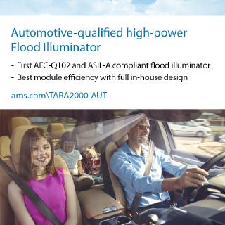 ams introduces world's first AEC-Q102 & ISO 26262 compliant VCSEL flood illuminator, offering superior IR illumination (in-cabin sensing applications)