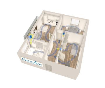 Bedarfsgeführt, energieeffizient und einfach: Das freeAir-Lüftungssystem von bluMartin sorgt für hohen Wohnkomfort und Feuchteschutz