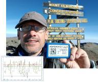 Im Realtest zum Gipfel des Kilimandscharo zeichnet der G-Log 2 zuverlässig Extremwerte auf wie z.B. am 22.07.19 morgens -0,6 °C, am Mittag über 45 °C bei rel. Luftfeuchtigkeit von 76,5% bzw. 13,8%.