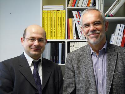 Die Professoren Jernej Klemenc und Bernd Sauer (rechts) (Foto: Klemenc Sauer)