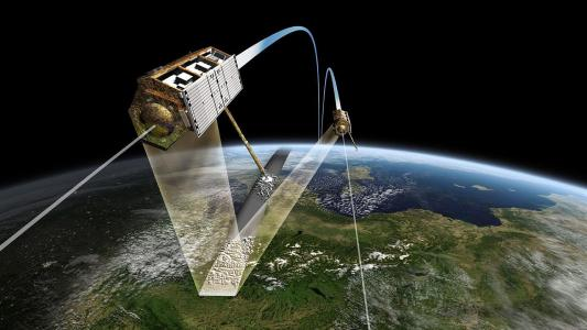 TanDEM-X Satelliten / Quelle: DLR