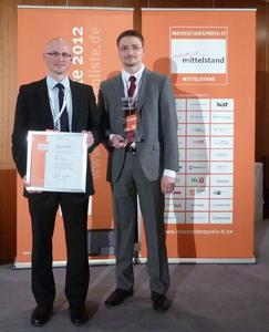 Preisverleihung Innovationspreis-IT 2012 Christian Strobel - Thomas Malchar