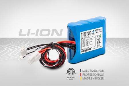 Li-Ion battery pack with IEC/EN/UL 62133-2  for demanding industrial and medical applications