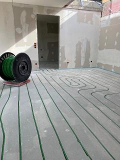 Fußbodenheizung nachträglich einfräsen - Beispiel