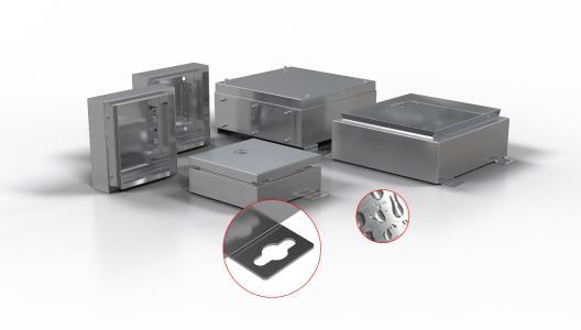 Mit dem ROSE Modular System können sich Kunden aus über 40.000 Modellvarianten ihr Wunschgehäuse zusammenstellen. Außenbefestigungslaschen ermöglichen die einfache Montage durch Einhängen