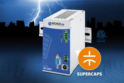 Maintenance-free DC UPS with Supercaps protects against system downtime and data loss