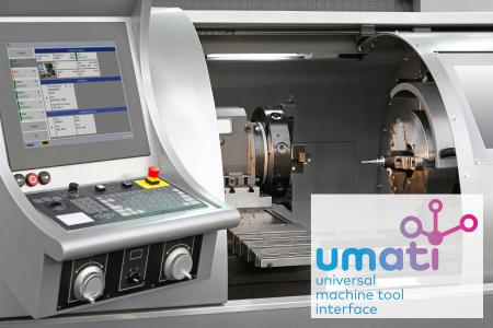 MPDV supports UMATI for the standardized connection of machine tools to the production IT (e. g. MES HYDRA or MIP) (Image source: MPDV, Adobe Stock, markobe)