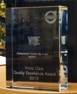 Volvo Cars Qualitiy Excellence Award