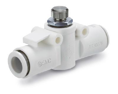Das neue Drosselrückschlagventil AS-X900 aus schwerentflammbarem Kunststoff eignet sich ideal für alle Druckluftanwendungen, bei denen Feuergefährdung aufgrund von Schweiß- oder Laserarbeiten auftritt