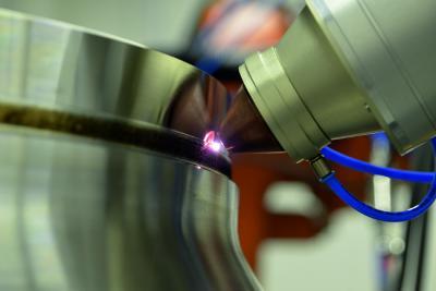 Mit 1kW Laserleistung und sechs Einzelstrahlen zählt ProFocus zu den innovativen Lösungen für das Laserauftragschweißen und kommt in der additiven Fertigung zum Einsatz / Quelle: Kjellberg Finsterwalde