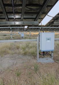 M50A inverter front view under the solar array