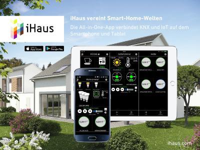 iHaus - Die intelligente Smart Home App verbindet herstellerunabhängig KNX mit IoT