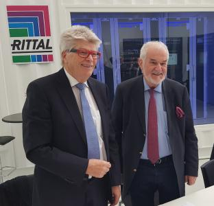 Prof. Friedhelm Loh and Jürgen Stulz (from left): Rittal and Stulz have announced their worldwide partnership for the provision of made-to-measure data centre infrastructure, consulting, support and services. (Photo taken in spring 2020), Rittal GmbH & Co. KG