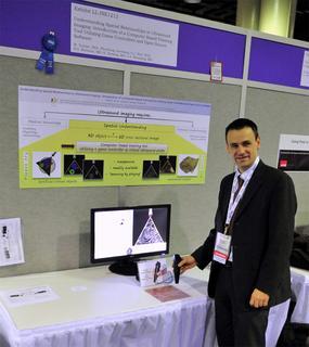 Prof. Dr. Michael Teistler  von der Fachhochschule Flensburg auf der RSNA in Chicago