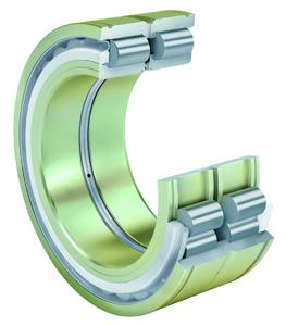 INA cylindrical roller bearing of series SL04 with anti-corrosion protection and seals, which is characterized by the highest load carrying capacity and a long rating life, Photo: Schaeffler