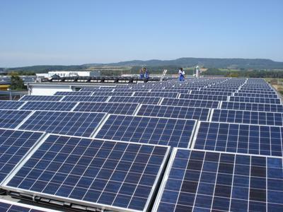Photovoltaik auf Einkaufszentrum in Eckental