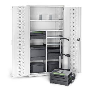 Der cubio Systemschrank mit varioSafe und varioSort Koffern von bott