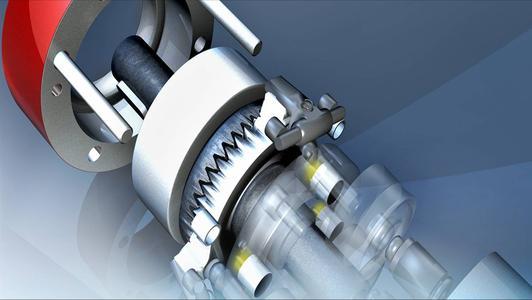 Alle Sensoren zur Schrittüberwachung finden im pneumatisch gesteuerten Schrittmotor Platz.