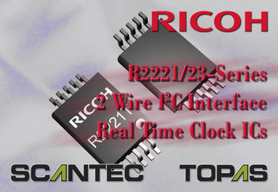 Ricoh R2221 and R2223 Series - 2 Wire I2C Interface Real Time Clock ICs