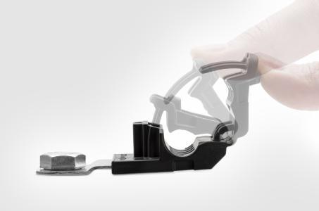 Design macht den Unterschied: Die Ratchet P-Clamp ist vielseitiger im Einsatz als konventionelle P-Klemmen.
