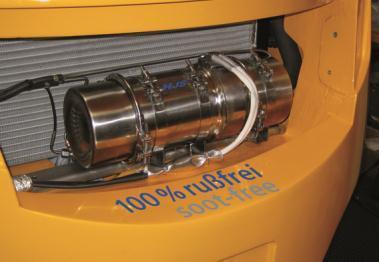 Sintermetallfilter mit autarker thermoelektrischer Regeneration zur Reduktion von Rußpartikeln