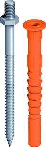 Die EJOT Fassadendübel mit Anschlussgewinde für alle gängigen Untergründe im Überblick: v.l. SDF-KB-10V/M8x13-E, SDF-KB-10H/M8x13-E, SDP-KB-10G/M8x13-E