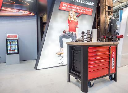 Der Werkstattwagen von KS Tools und KYB: ab sofort auf Hausmessen bundesweit