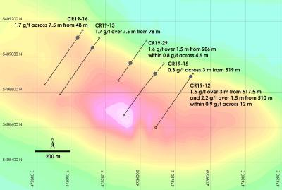 Canada Nickel Company Announces Discovery of New Palladium-Platinum Zone at Crawford and First Intersection of Nickel Grading More than 1%, Provides Update on Transaction with Noble Mineral Exploration