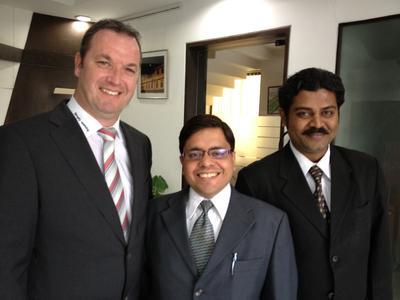 left: Uwe Niekrawietz, Rahul Kumar Singh Rathore, Roopesh Menon