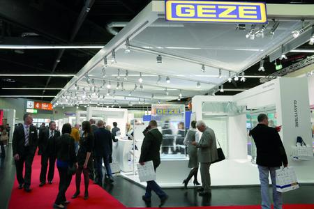 GEZE Messestand fensterbau frontale  2014